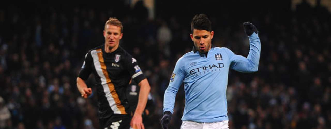 Sergio Aguero reappeared for City after overcoming a slight hamstring tear.