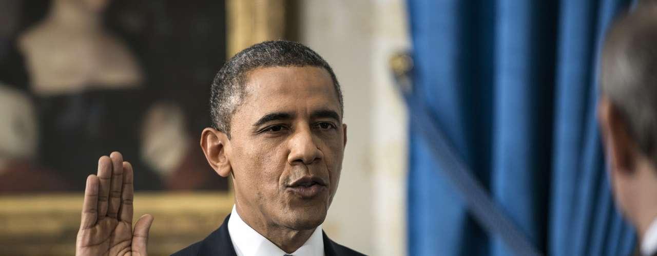 El presidente Barack Obama juró este domingo su segundo mandato como presidente de Estados Unidos.