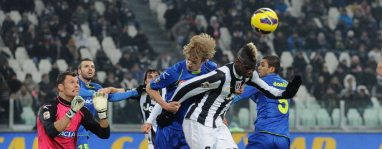Juventus didn't have a problem with Udinese (4-0). Paul Pogba scored twice.