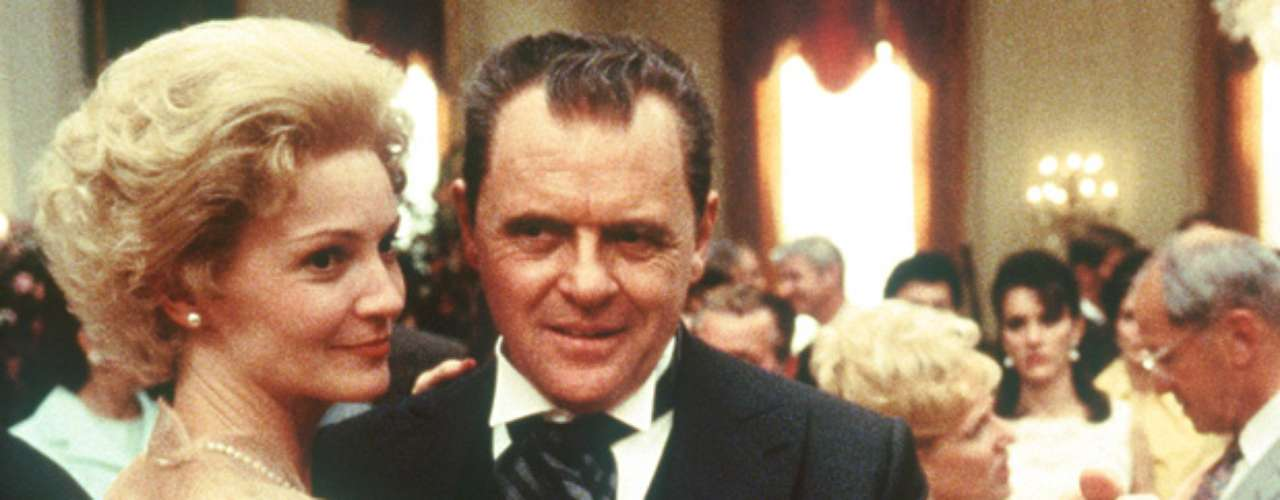 Anthony Hopkins dances away as Richard M. Nixon in \