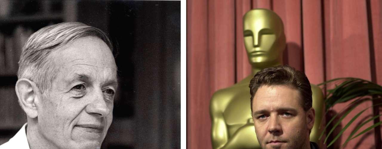 Russell Crowe como John Nash para 'Una mente brillante'. El australiano ganó seis premios incluyendo un Globo de Oro a Mejor Actor.