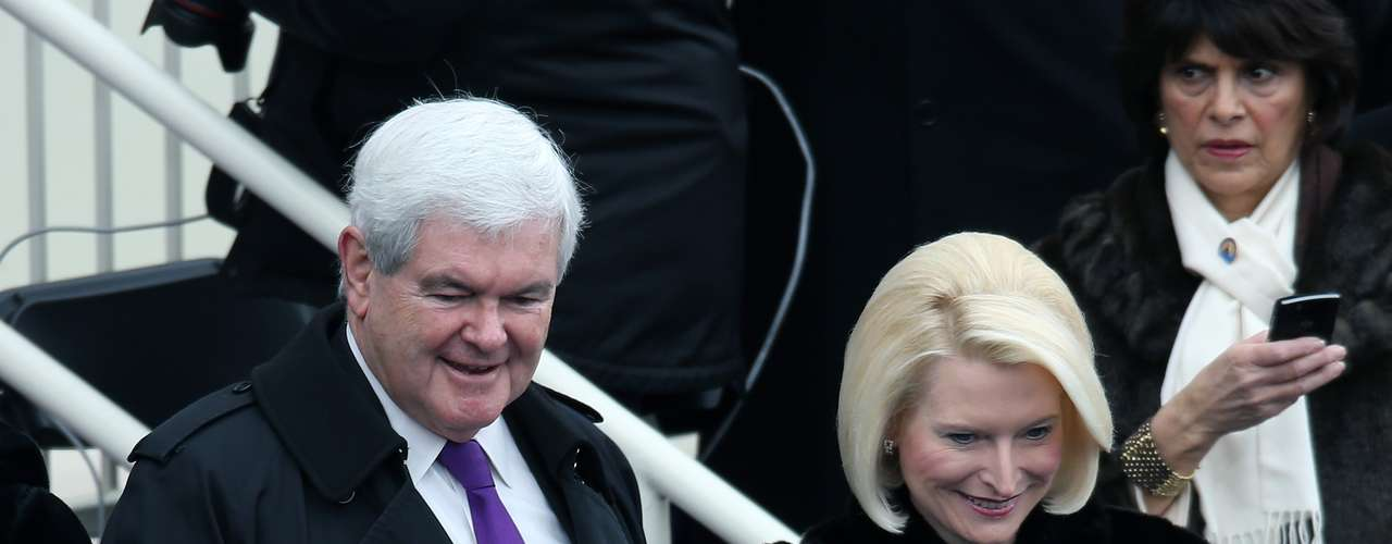 Among the invitred was also Republican candidate for preident Newt Gingrich and his wife Callista.