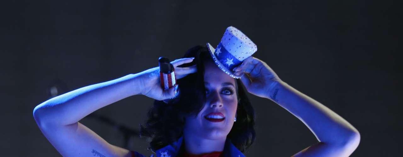 Katy Perry lució más sexy y patriótica que nunca, en el marco de su participación en el concierto \