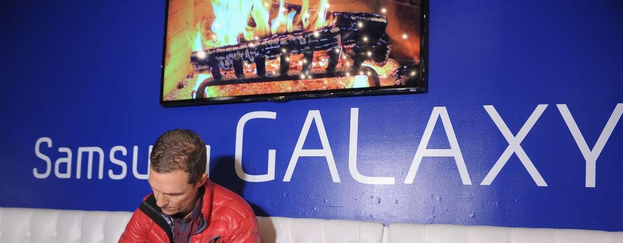 En su estadía en Sundance, el actor se encargó de asistir a varios eventos con patrocinadores