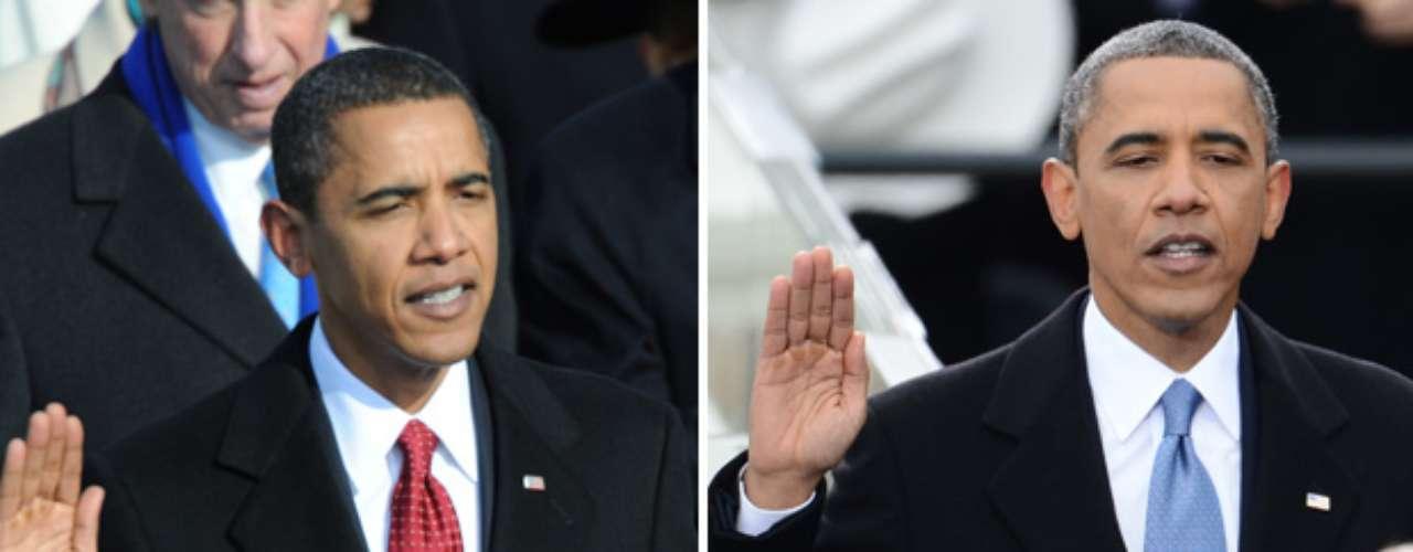 El presidente de EE.UU., Barack Obama, juró públicamente en el cargo para un segundo mandato que concluirá en enero de 2017 en una multitudinaria ceremonia frente al Capitolio en Washington. Compare, en fotos, sus dos investiduras públicas en Washington.
