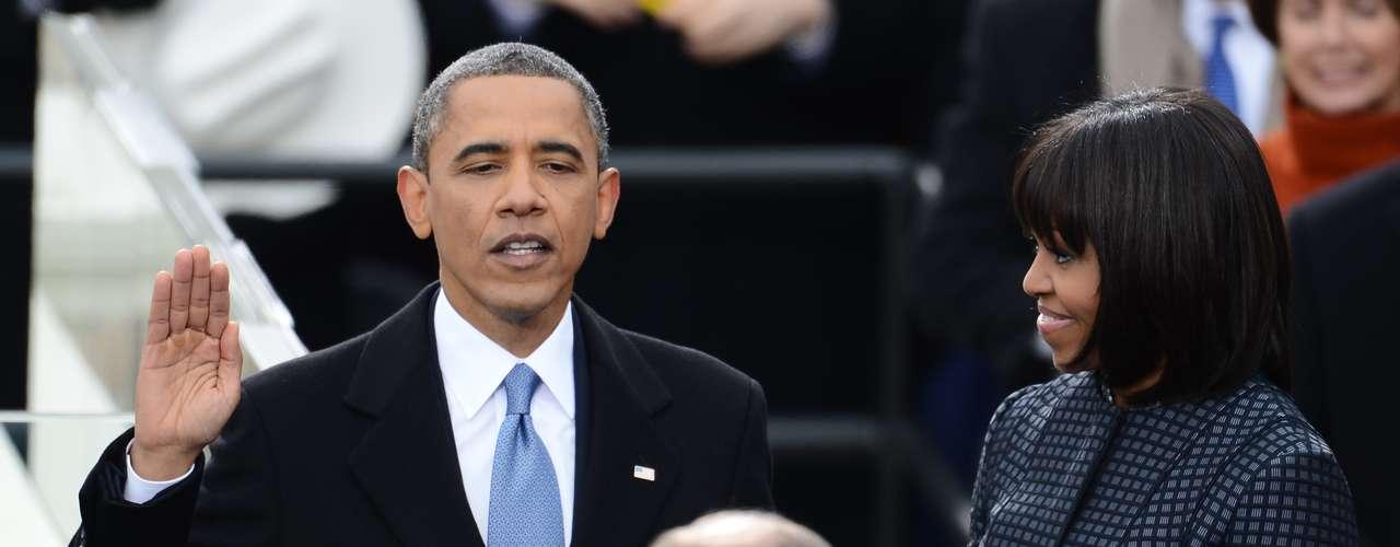 Este lunes, Barack Obama volvió a pararse delante del presidente de la Corte Suprema de Justicia, John Roberts, y repitió el juramento.