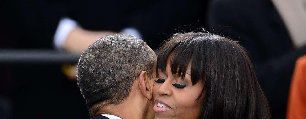 En 2013, Michelle lució un nuevo corte de cabello y un vestido de Thom Browne.