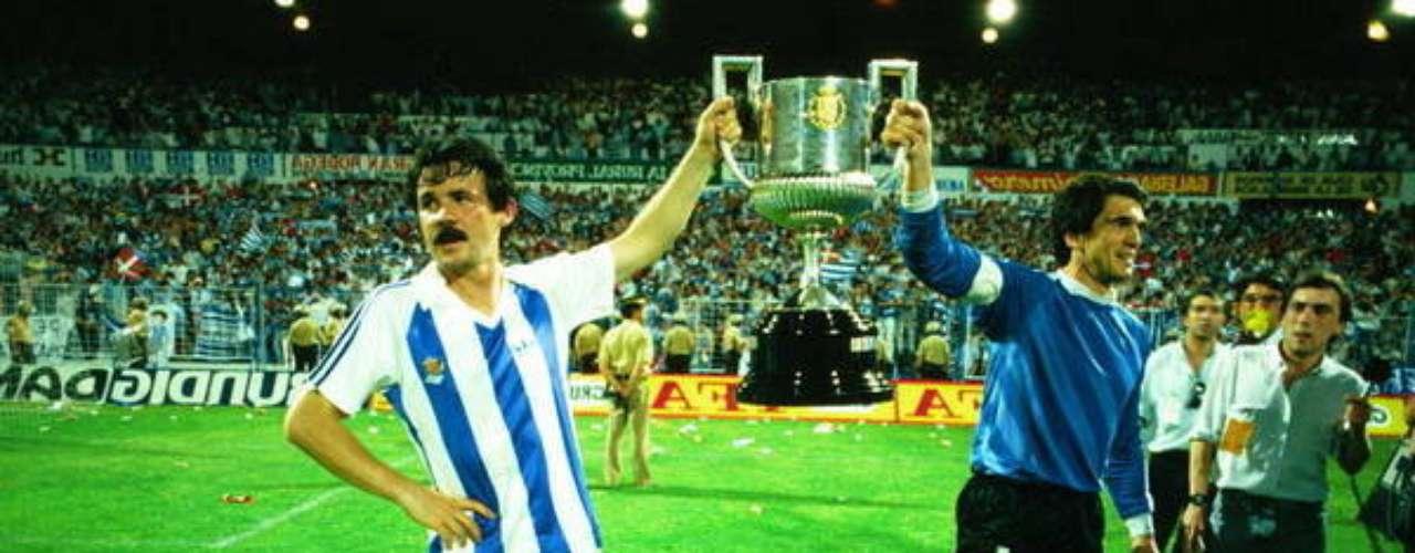 Después de cuatro Finales perdidas, la Real Sociedad se proclamó campeona en 1987.