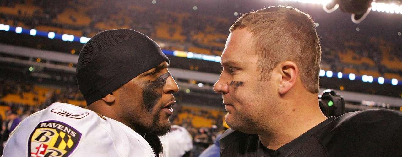 Ni qué decir de Ben Roethlisberger, el marical de los Steelers sabe que Ray Lewis es uno de sus más complicados rivales.