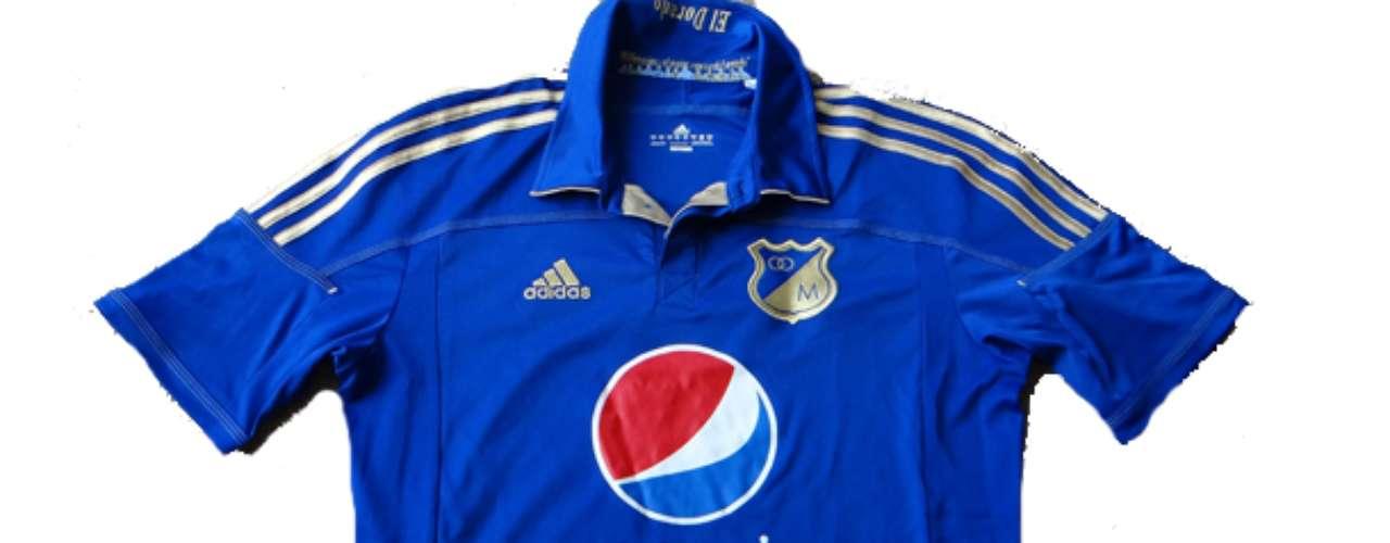 Camiseta en honor a la época del Dorado en Millonarios utilizada durante la temporada 2011