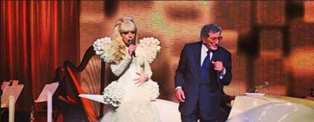 JANUARY 24 - Lady Gaga announces she's working on an album with veteran crooner Tony Bennett in a tweet: \
