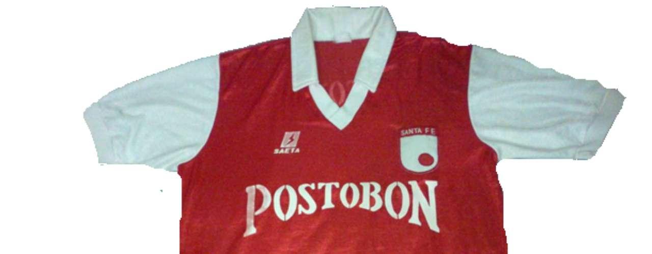 Camiseta de Independiente Santa Fe en año 1989