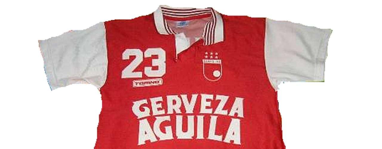 Camiseta de Independiente Santa Fe en año 1991