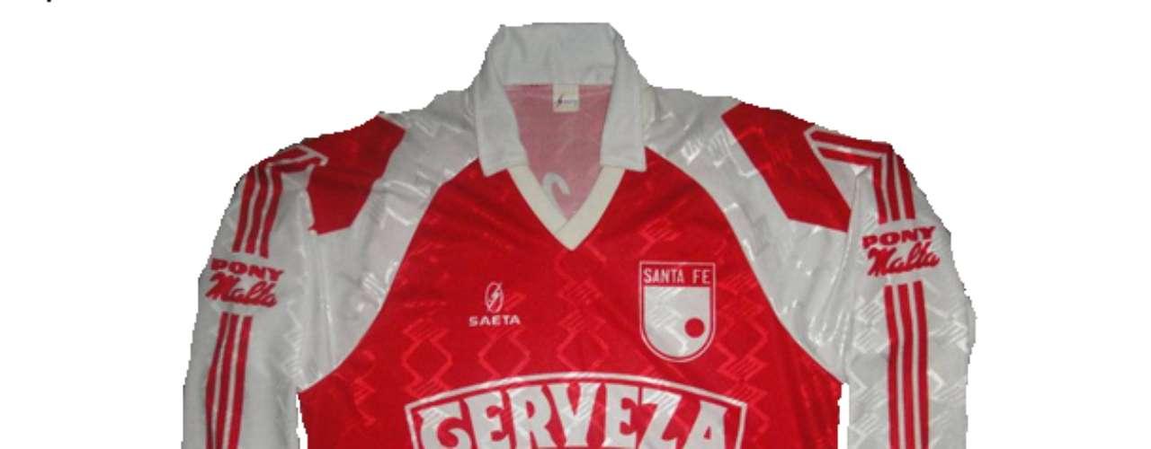 Camiseta de Independiente Santa Fe en año 1993