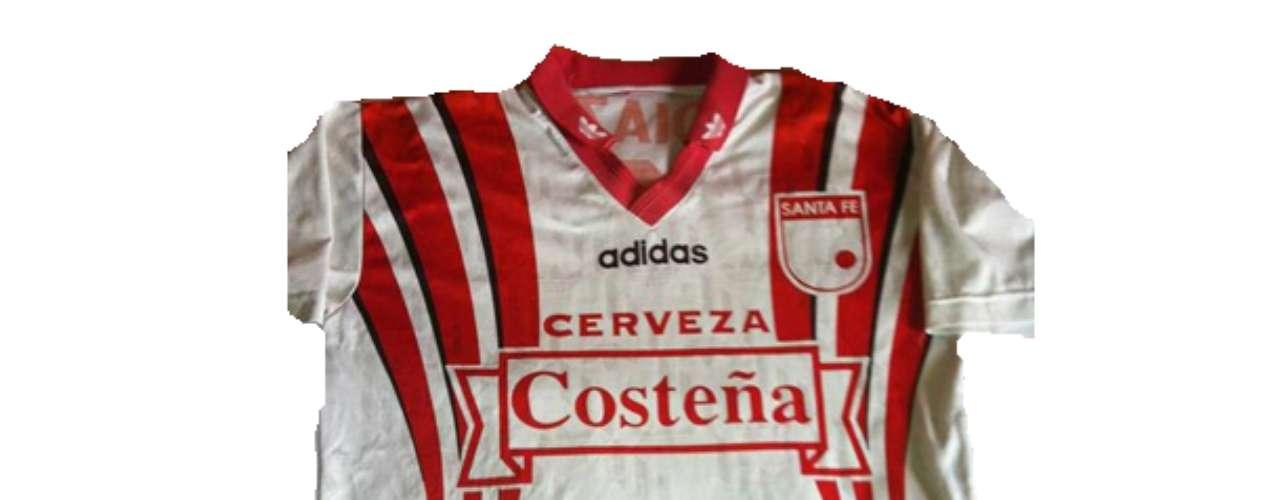 Camiseta de Independiente Santa Fe en año 1996