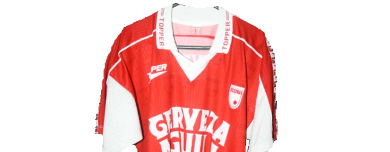 Camiseta de Independiente Santa Fe en año 1999
