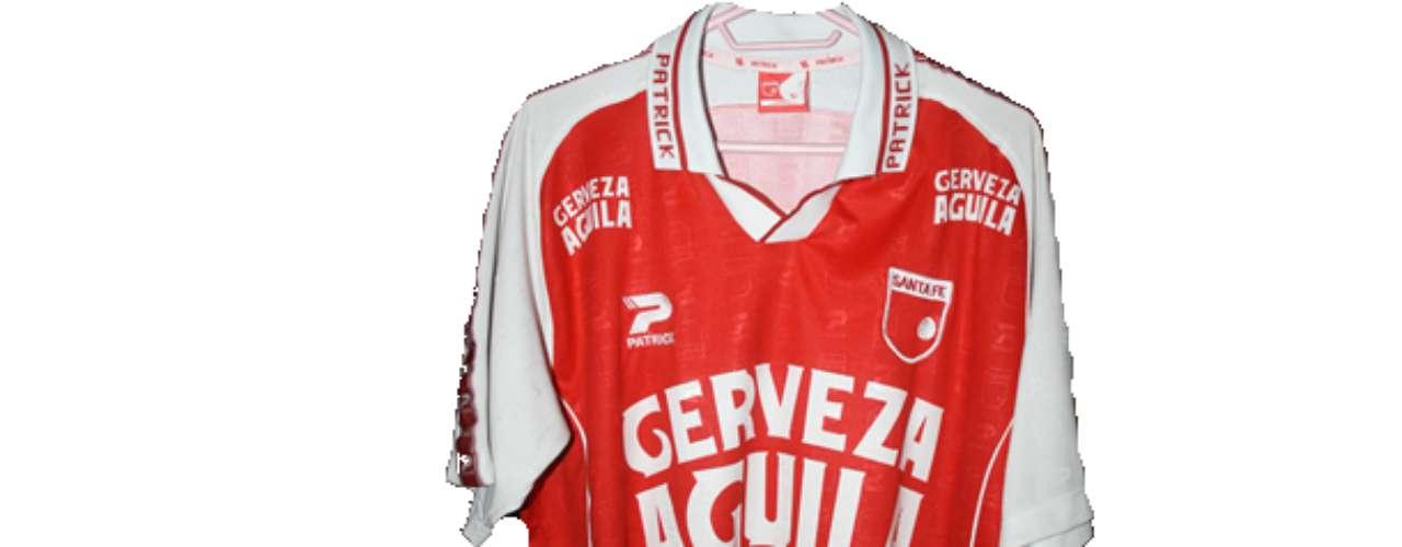 Camiseta de Independiente Santa Fe en año 2002