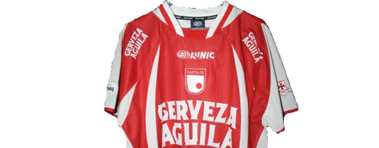 Camiseta de Independiente Santa Fe en año 2004
