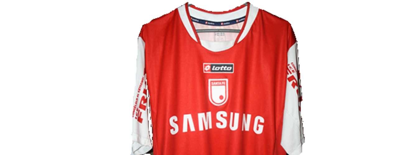 Camiseta de Independiente Santa Fe en año 2005