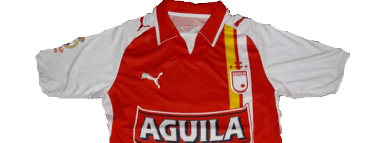 Camiseta de Independiente Santa Fe en año 2008 (Conmemorativa para le partido frente al Real Madrid)