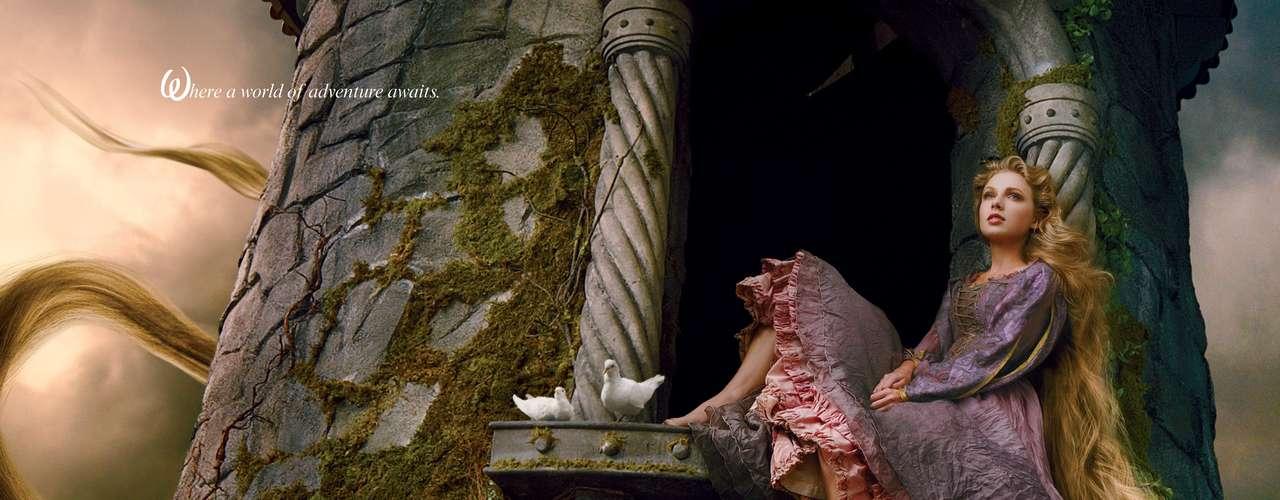 Taylor Swift se convierte en una princesa de Disney, la adorable Rapunzel. La cantante fue fotografiada por la reconocida Annie Leibovitz para la nueva campaña de Disney que se titula: \