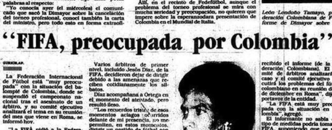 La Fifa mostró su preocupación por la situación del país y pidió soluciones drásticas para enderezar el camino en el fútbol localEntra a la página de 'Escobar, El Patrón Del Mal''Escobar, El Patrón del Mal', ¿quién es quién?Las Narco-novelas colombianas, polémicas y exitosasEllas son 'Las Muñecas de la Mafia'.