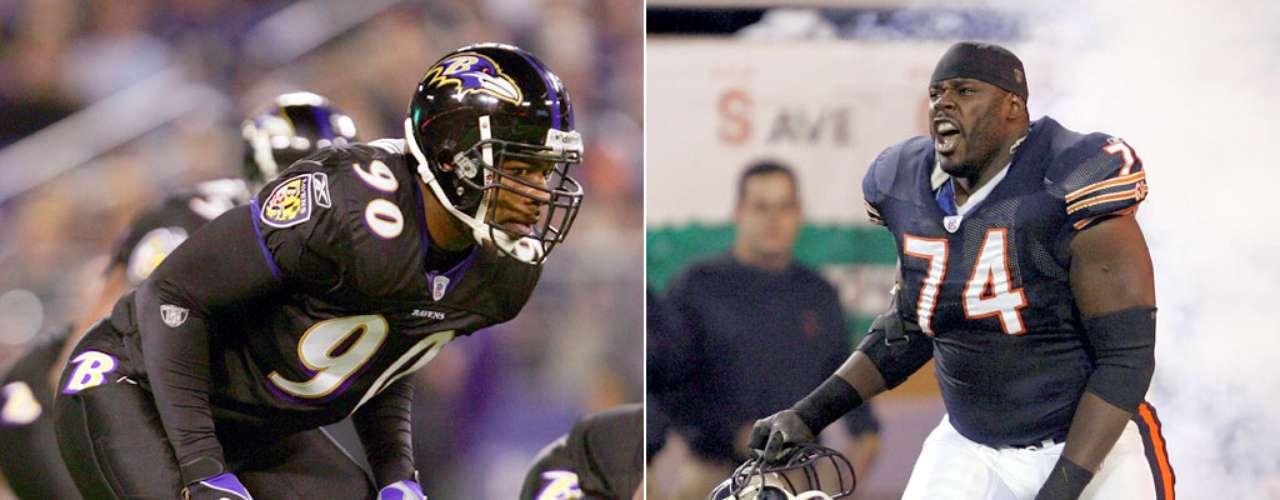 Cornell y Ruben Brown. Cornell jugó con los Cuervos de Baltimore en el SBXXXV, mientras que Ruben vio acción con los Osos de Chicago en el SBXLI.