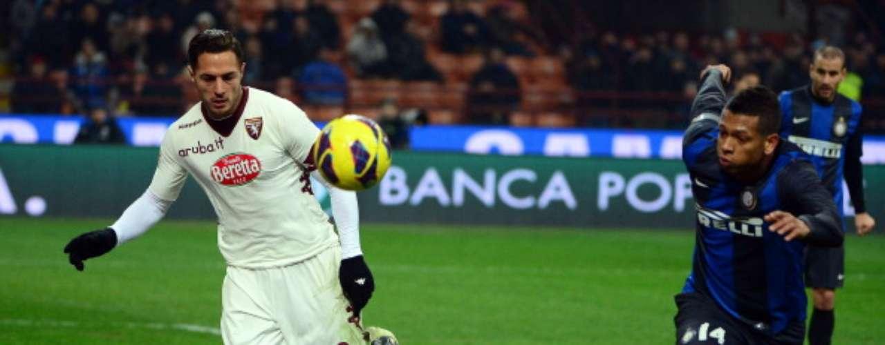 La presión de Inter arreció en los minutos finales y Fredy Guarín dejó escapar una clara oportunidad.