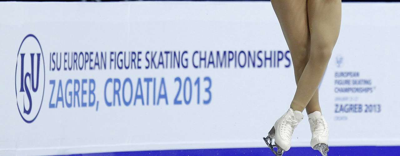 Joshi Helgesson of Sweden performs during the women's free skating program at the European Figure Skating Championships in Zagreb January 26, 2013.   REUTERS/Antonio Bronic (CROATIA  - Tags: SPORT FIGURE SKATING)