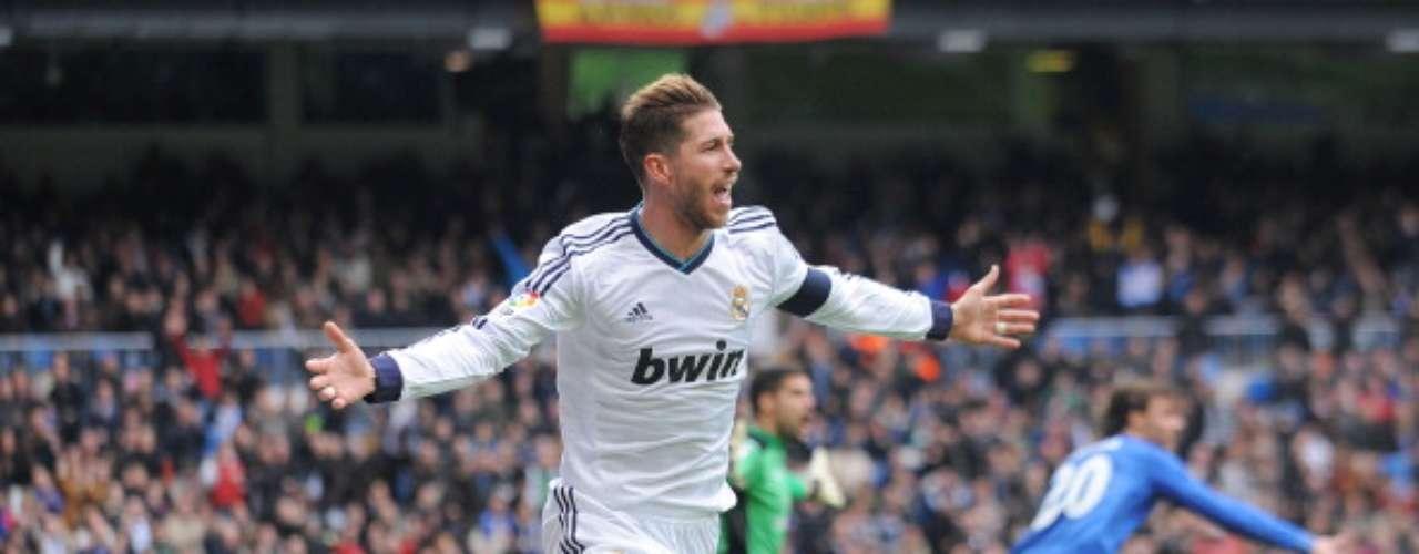 El defensa del Real Madrid Sergio Ramos abrió el marcador al poco de comenzar la segunda mitad.