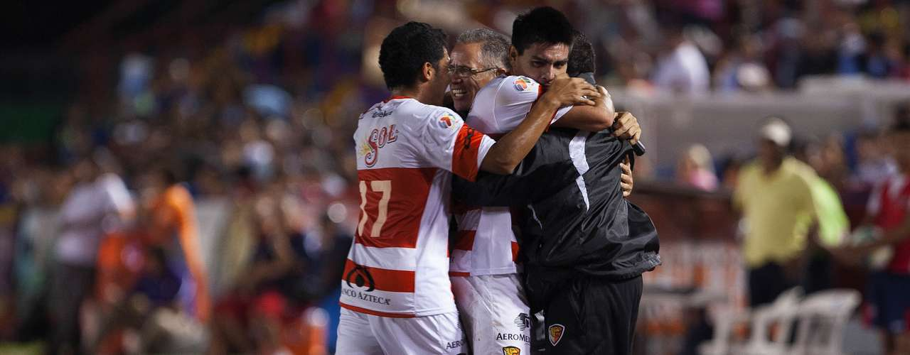 The Jaguares celebrated the goal.