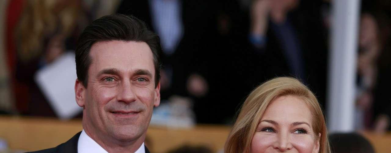 El guapísimo Jon Hamm junto a su novia Jennifer Westfeldt