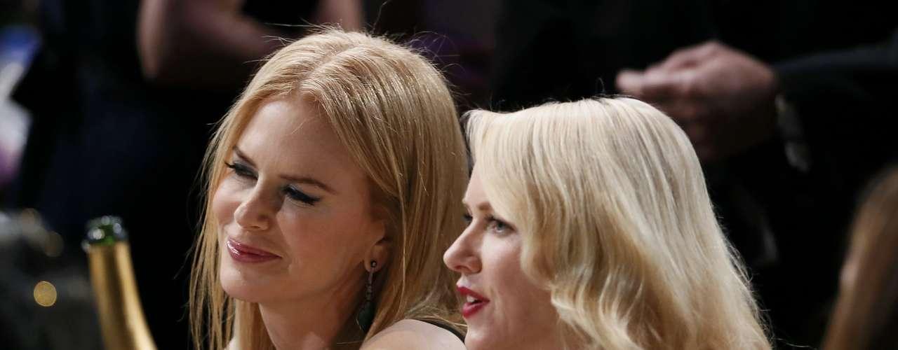 Las amigas Nicole Kidman y Naomi Watts compartieron mesa en los SAG Awards