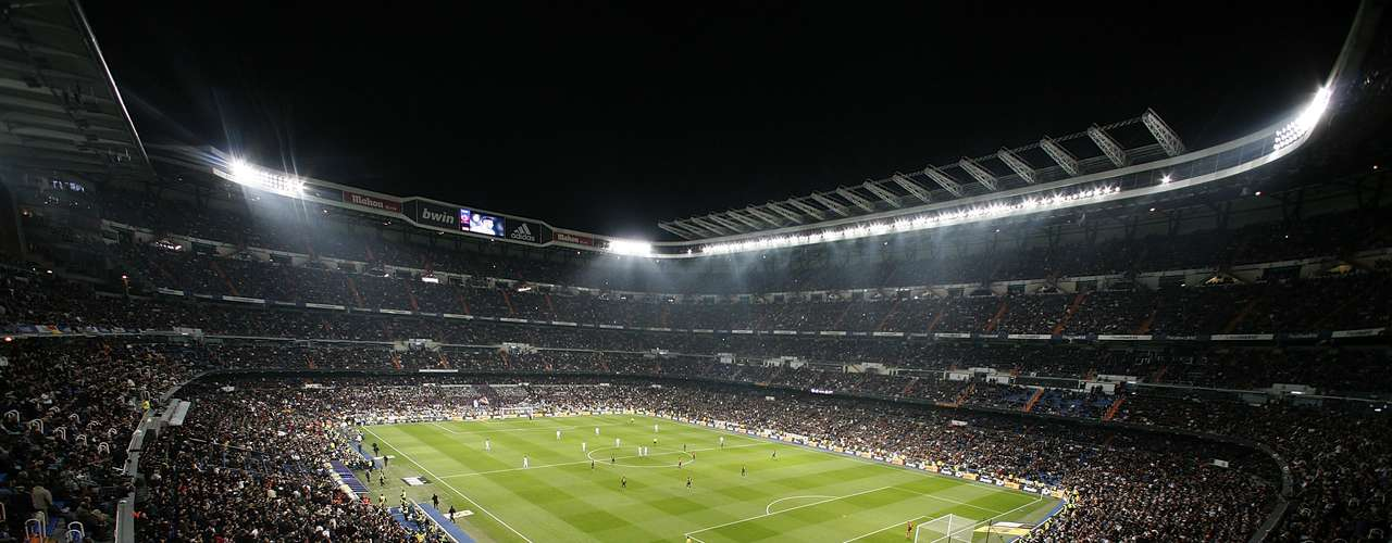 Nice view of the Santiago Bernabeu stadium.