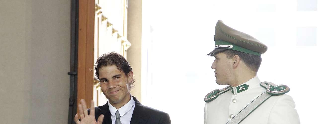 El tenista español acudió al palacio de La Moneda, donde conversó con el primer mandatario. En la cita también estuvieron presentes Fernando González y Nicolás Massú.