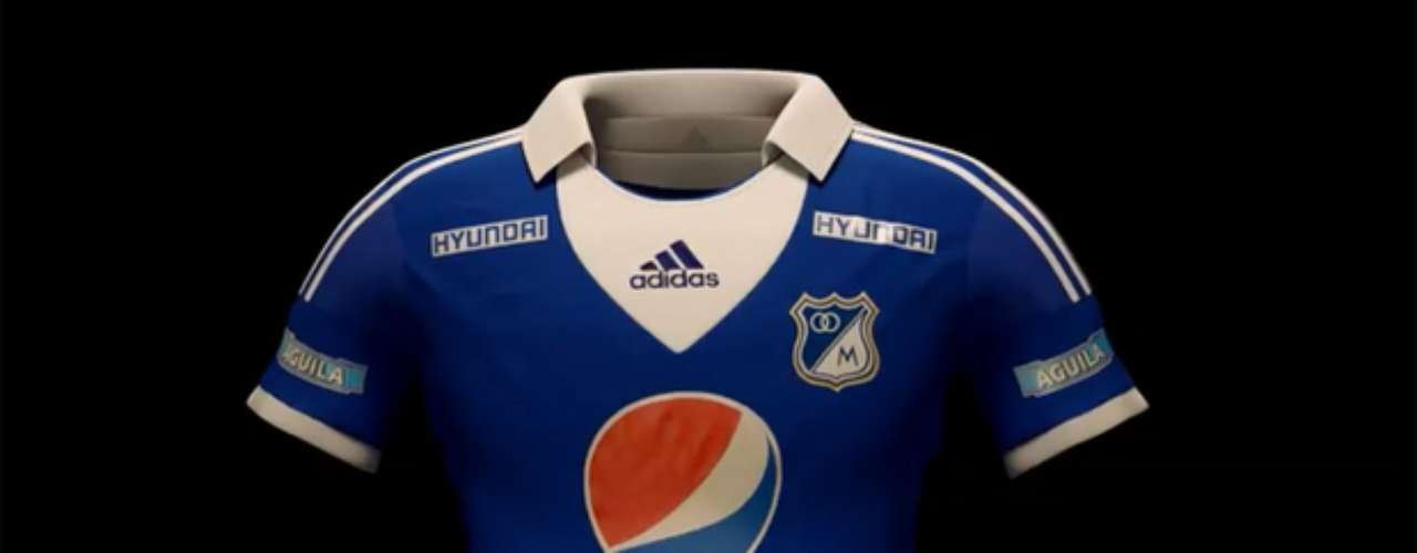 Así será la camiseta que utilizará Millonarios en la Liga y Copa Libertadores durante este 2013