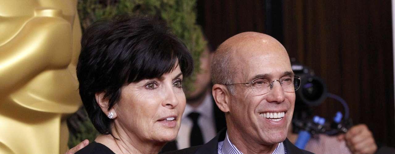 El CEO de Dreamworks Animation, Jeffrey Katzenberg y su esposa Marilyn asisten al desayuno de nominados