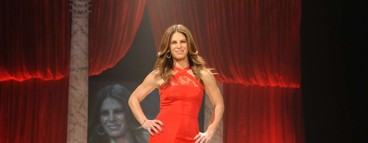 While trainer Jillian Michaels lacked a bit of grace and made a funky face.