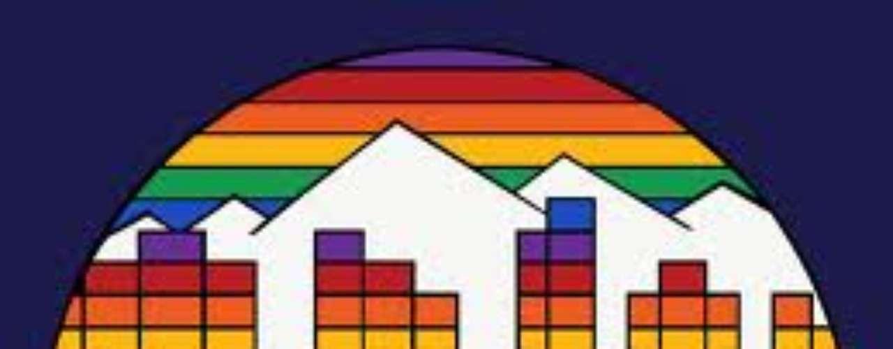 Los Nuggets de Denver de la NBA utilizaron este logotipo de 1982 a 1993, tal vez por el \