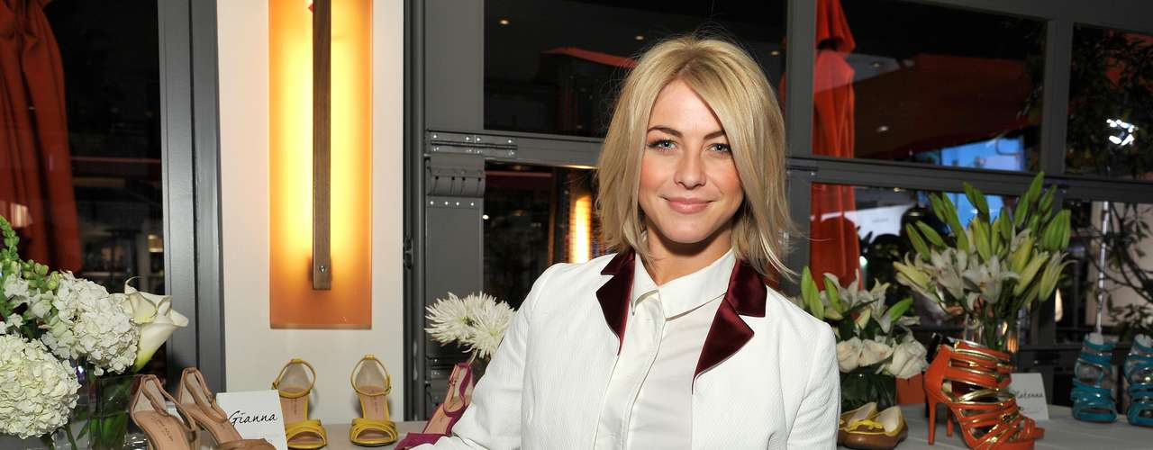 We can't decide whether we love or hate Julianne Hough's look for the Sole Society preview party at Mixology101 & Planet Dailies at the Grove on February 7, 2013 in Los Angeles, California.