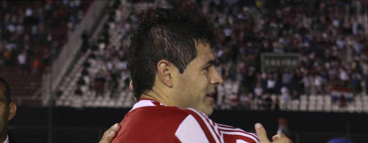 Pablo Aguilar jugó todo el partido y anotó al 36, anotó el primer gol en la victoria de Paraguay 3-0 sobre El Salvador.