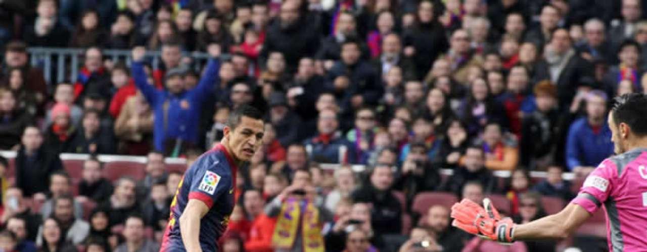 El tocopillano volvió al gol e hizo el primer tanto de su equipo en la victoria por 6-1 ante Getafe en la liga española.