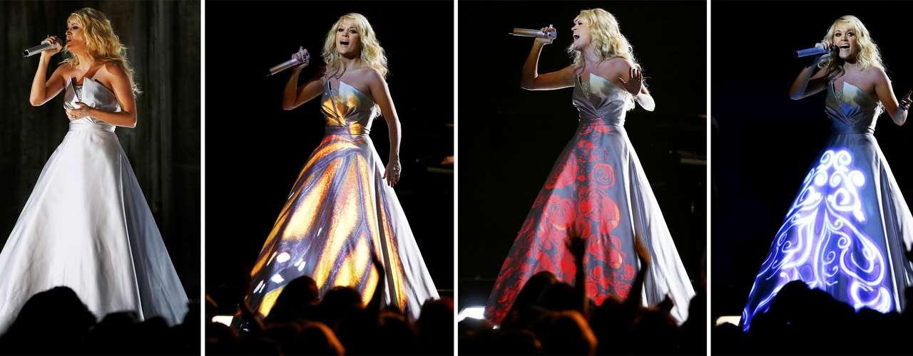 Carrie Underwood lució muy colorida y mágica en su presentación en los Grammy