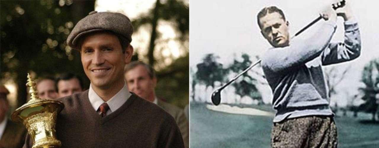 Jim Caviezel interpretó al mejor y más popular golfista amateur de la historia, Bobby Jones, en Bobby Jones: Una historia de grandeza (2004).
