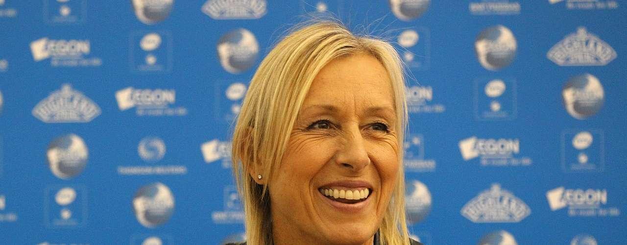Martina Navratilova, una de las mejores tenistas de todos los tiempos, \