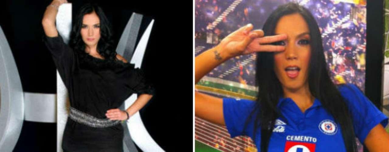 La Máquina del Cruz Azul también tiene otra aficionada bella. Nos referimos a la conductora Ivette Hernández, quien trabaja para TV Azteca y Fox Sports, en programas deportivos y de espectáculos.
