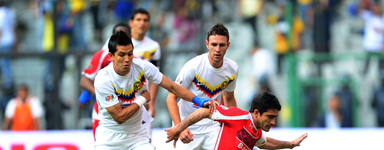 América recibió al Toluca en el Azteca, en actividad de la Jornada 7 del Clausura 2013.