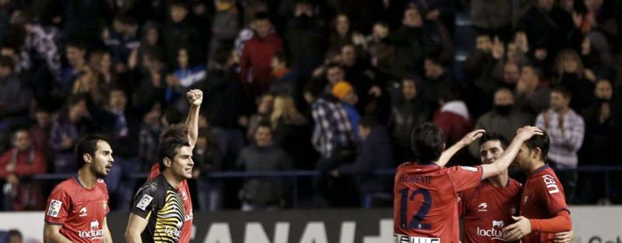 Osasuna escapes the relegation zone little by little; beating Zaragoza at Pamplona 1-0.