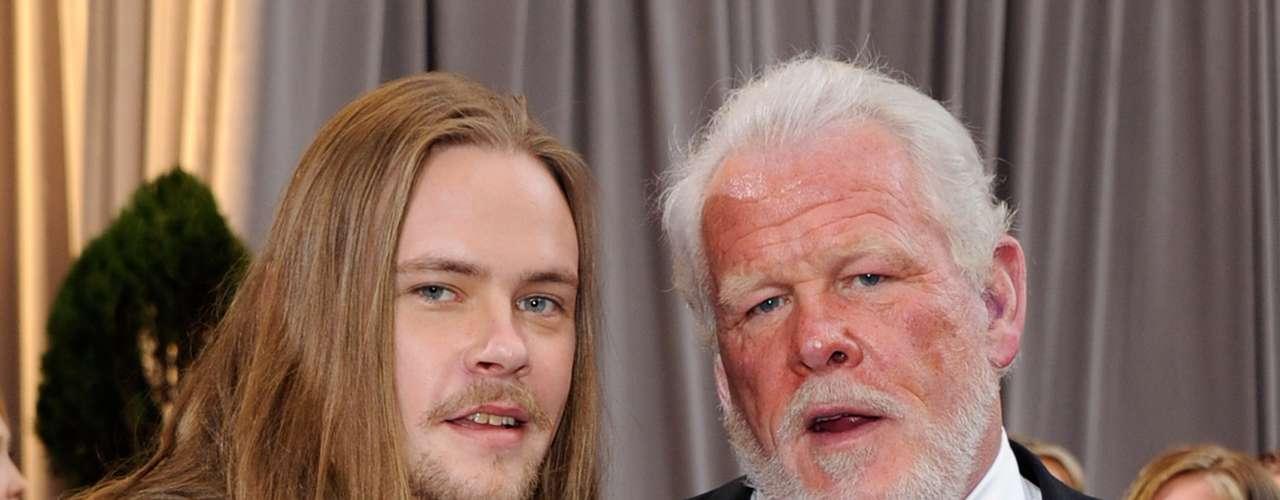 El actor Nick Nolte y su hijo Brawley Nolte, dos generaciones, dos estilos, la misma estampa de galanes.