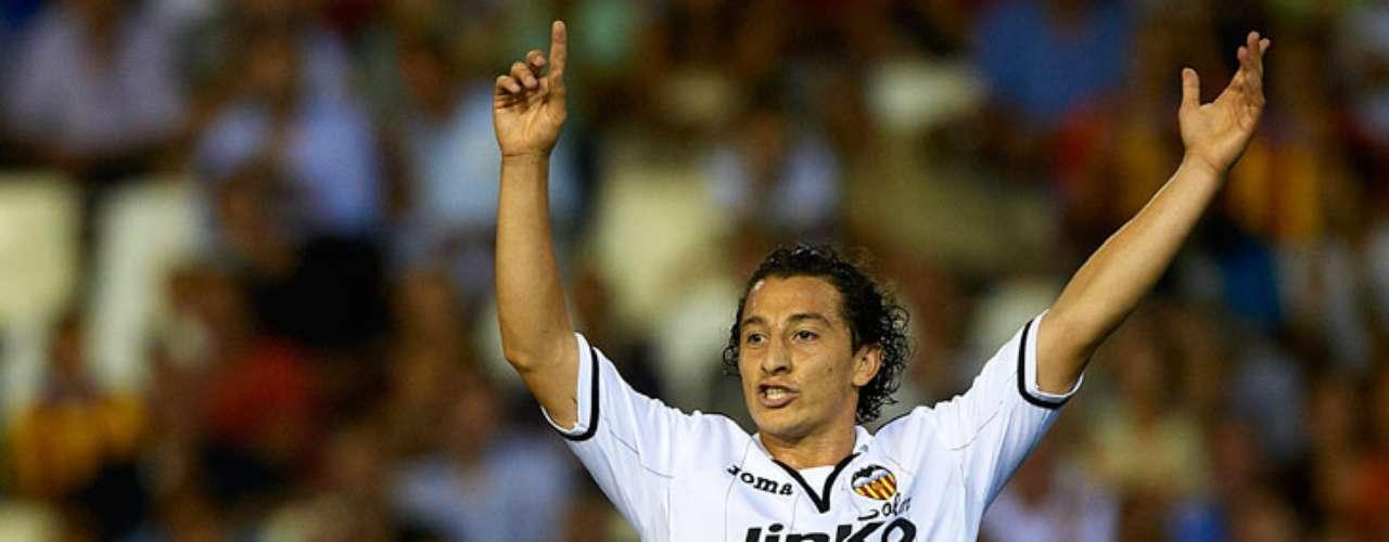 Andrés Guardado jugó los 90 minutos en el triunfo del Valencia 2-0 sobre el Mallorca, cumpliendo en la banda izquierda.